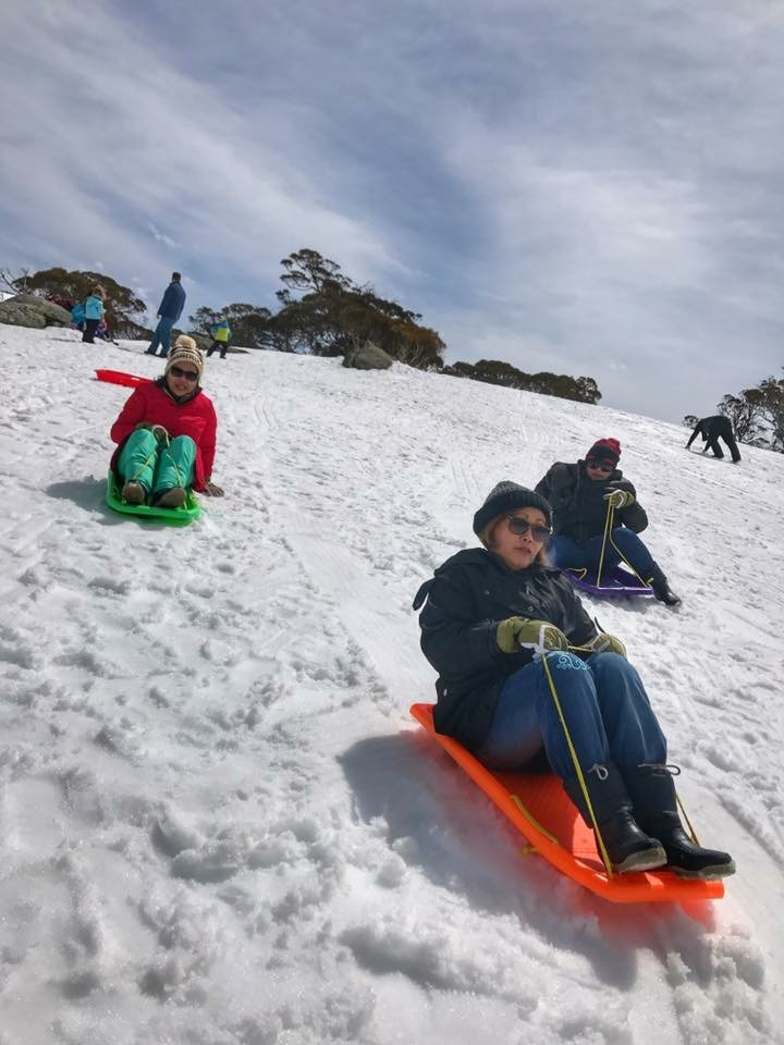 Cooma Airport to Thredbo sledding down hill